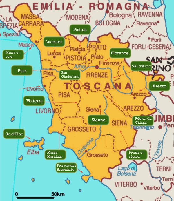 Sienne carte Toscane » Vacances   Arts  Guides Voyages