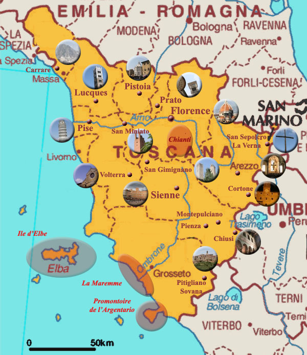 Célèbre Carte de Toscane YI96